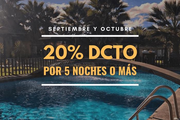 20% de Descuento Septiembre y Octubre